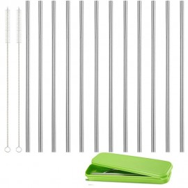 Useful Reusable 304 Stainless Steel Straw Milk Tea Silver Straws Party Drinking Accessories