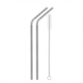 2pcs Stainless Steel Straws Reusable Eco-friendly ..
