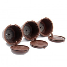 3Pcs Refillable Nescafe Reusable Refill Capsule Eco-Friendly Single Coffee Filters Pods Compatible with Nescafe Dolce Gusto Brewers