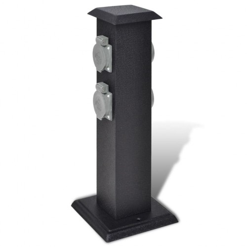 Garden socket outlet tower Black