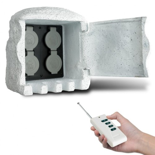 Artificial stone Garden socket with remote control