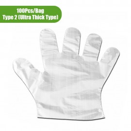 100Pcs/Bag Disposable Gloves Transparent Food-grad..
