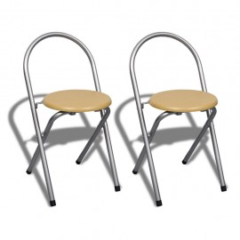 Foldable Breakfast Bar Set with 2 Chairs