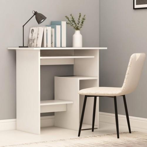 Desk white 80 x 45 x 74 cm chipboard