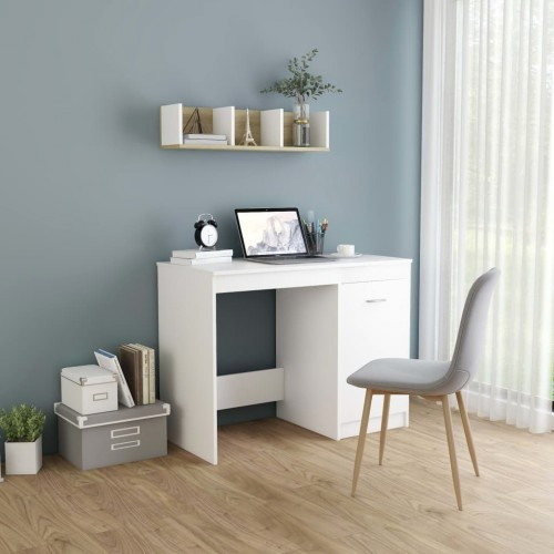 Desk white 100 × 50 × 76 cm chipboard