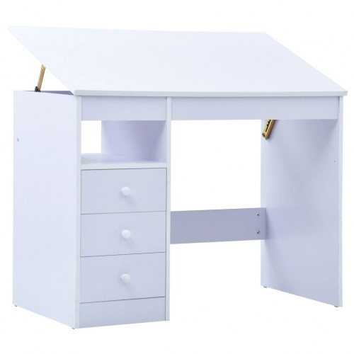 Children's desk tiltable white