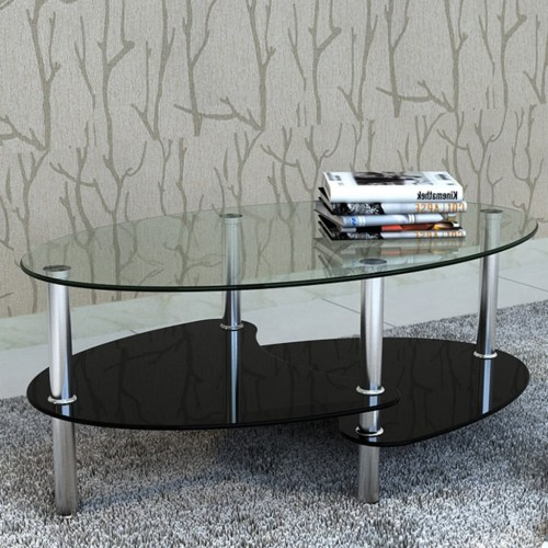 Coffee Table Exclusive 3-layer Design Black
