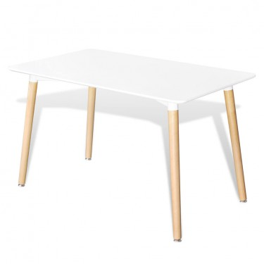 Matte White Rectangular Dining Table