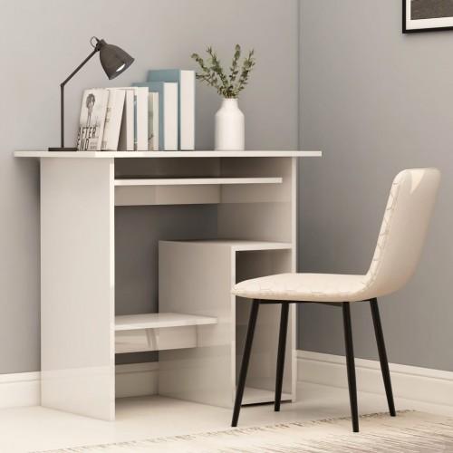 Desk glossy white 80 x 45 x 74 cm chipboard