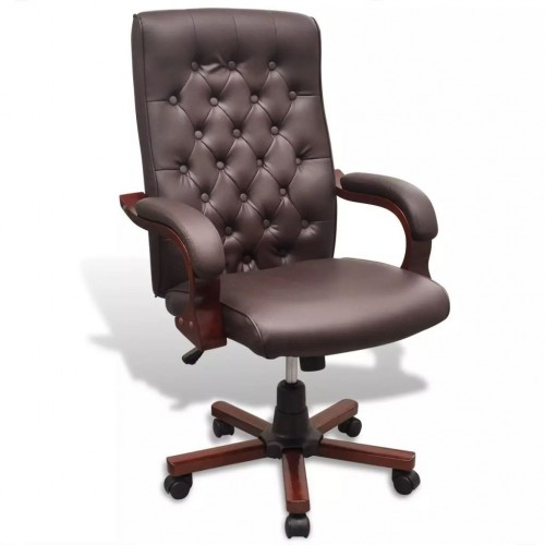 Chesterfield office chair Art Leather Brown