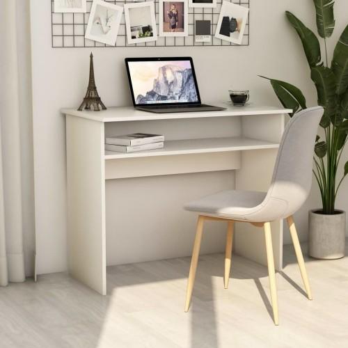 White chipboard desk 90x50x74 cm