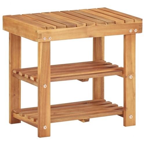 Shoe rack 50 × 32 × 45 cm solid wood acacia