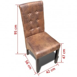 Kitchen chair height quality furniture 2 pcs.