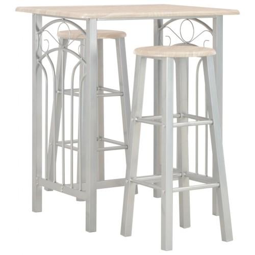 3-pc. Bar set wood and steel