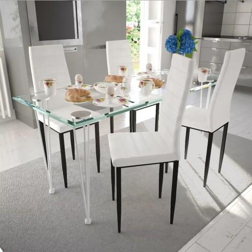 Dining chair sleek design White (4 pieces)