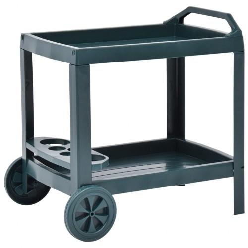 Green beverage cart 69 × 53 × 72 cm plastic