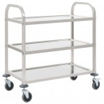 3-stage serving trolley 107 x 55 x 90 cm stainless steel