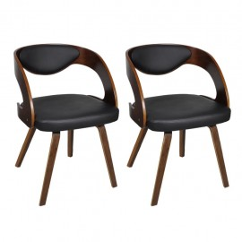 2xLederstühle Ledermix Chairs Dining Chairs