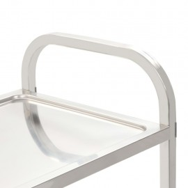 3-stage serving trolley 87 x 45 x 83.5 cm stainless steel