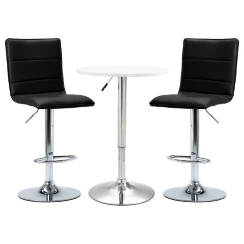 3-part Bar set synthetic leather white