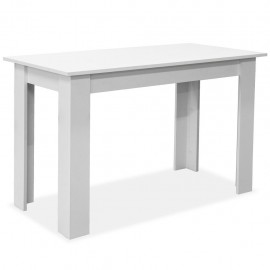 3-pc. Dining table and benches chipboard white
