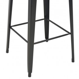 3-piece bar set steel black