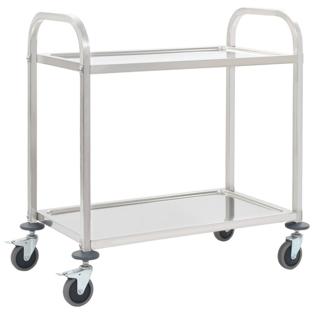 2-stage trolley 107 x 55 x 90 cm stainless steel